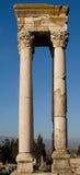 Ruinas islámicas en Anjar Líbano Foto de archivo libre de regalías