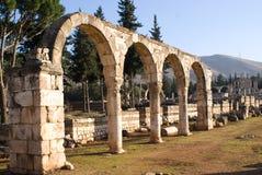 Ruinas islámicas en Anjar Líbano Imagenes de archivo