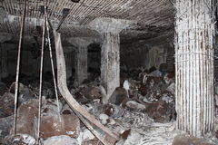 Ruinas japonesas de la arcón del combustible en Tinian 3 Fotografía de archivo
