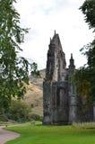 Ruinas majestuosas de la abadía de Holyrood Foto de archivo libre de regalías