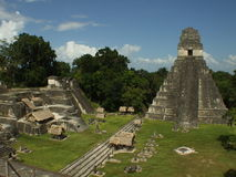 Ruinas mayas de Tikal Imágenes de archivo libres de regalías