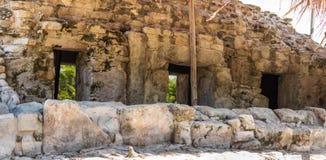 Ruinas mayas en Cancun foto de archivo libre de regalías