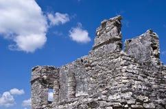 Ruinas mayas en Tulum México Imagenes de archivo