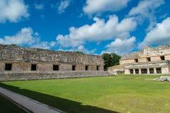 Ruinas mayas en Uxmal Yucatán Foto de archivo libre de regalías