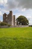 Ruinas medievales de la abadía en zona rural Foto de archivo libre de regalías
