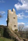 Ruinas medievales del castillo en Kuessaberg Imágenes de archivo libres de regalías