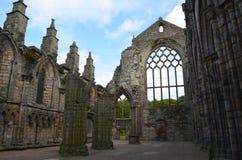 Ruinas permanentes de la abadía de Holyrood en Edimburgo Escocia Fotos de archivo libres de regalías