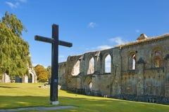 Ruinas pintorescas de la abadía de Glastonbury, Somerset, Inglaterra Imagenes de archivo
