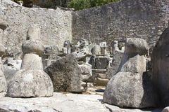 Ruinas Pocitelj, Capljina, Bosnia Imagen de archivo