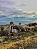 Ruinas por el mar fotos de archivo libres de regalías