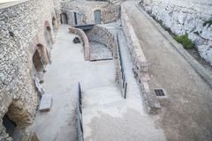 Ruinas romanas antiguas en Tarrago Imagen de archivo