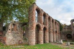 Ruinas romanas Colchester Essex Reino Unido Foto de archivo