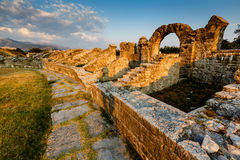 Ruinas romanas de Ampitheater en Salona Foto de archivo