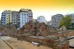 Ruinas romanas de Salónica Imágenes de archivo libres de regalías
