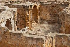 Ruinas romanas del amphitheatre en Tarragona, Cataluña, España foto de archivo