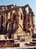 Ruinas romanas del anfiteatro Imágenes de archivo libres de regalías