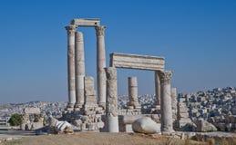 Ruinas romanas en Amman, Jordania Imágenes de archivo libres de regalías