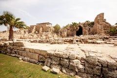Ruinas romanas en Israel Fotos de archivo libres de regalías
