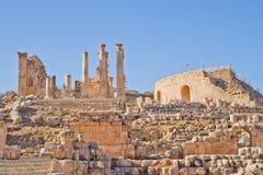 Ruinas romanas en Jerash, Jordania Imagen de archivo libre de regalías