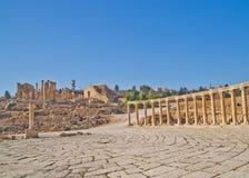 Ruinas romanas en Jerash, Jordania Fotos de archivo libres de regalías