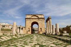Ruinas romanas en la ciudad jordana de Jerash (Gerasa de la antigüedad), Jordania Fotos de archivo