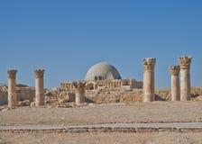 Ruinas romanas en la ciudadela, Amman Jordania Imagen de archivo