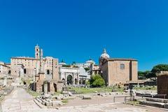 Ruinas romanas en Roma Foto de archivo