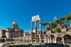 Ruinas romanas en Roma, foro Foto de archivo libre de regalías