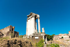Ruinas romanas en Roma, foro Foto de archivo