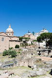 Ruinas romanas en Roma, foro Fotos de archivo libres de regalías