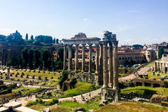 Ruinas romanas en Roma, foro Imágenes de archivo libres de regalías