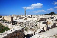 Ruinas romanas, Kourion, Chipre Foto de archivo libre de regalías