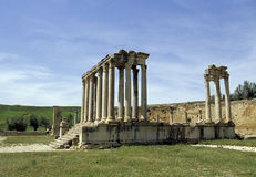 Ruinas romanas Túnez Foto de archivo