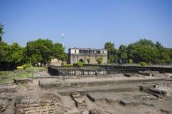 Ruinas, Shaniwar Wada Fortalecimiento histórico construido en 1732 y asiento del Peshwas hasta el 1818 Imagenes de archivo