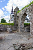 Ruinas viejas de la abadía en Gudhem Fotos de archivo libres de regalías