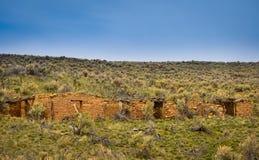 Ruinas viejas de la granja de la roca Foto de archivo libre de regalías