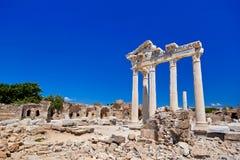 Ruinas viejas en la cara, Turquía Foto de archivo