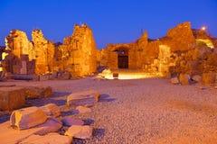 Ruinas viejas en la cara, Turquía en la puesta del sol Imagen de archivo libre de regalías