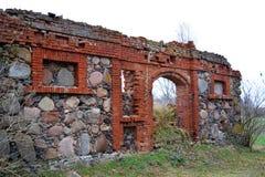Ruinas viejas en Letonia, Liepaja Foto de archivo