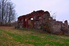 Ruinas viejas en Letonia, Liepaja Fotos de archivo libres de regalías