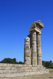 Ruinas viejas en los rhodos Grecia Fotos de archivo libres de regalías