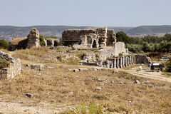 ruinas viejas en Milet, Turkay Fotografía de archivo libre de regalías