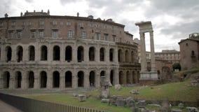 Ruinas viejas en Roma, Italia almacen de metraje de vídeo
