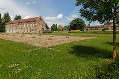 Ruinas y biblioteca del hospital de la abadía de Citeaux Fotografía de archivo libre de regalías