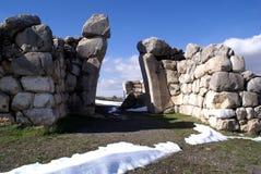 Ruinas y puerta Imagen de archivo