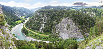 Ruinaulta eller Rhenkanjon eller schweizare Grand Canyon Royaltyfri Foto