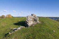 Ruine Alsnohus Hovgarden Stockbild