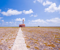 Ruine antique de phare Image stock