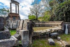 Ruine archéologique de ville romaine antique, Pompeii, région de Campanie, Italie photo stock