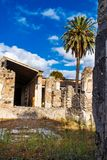 Ruine archéologique de ville romaine antique, Pompeii, région de Campanie, Italie photos stock